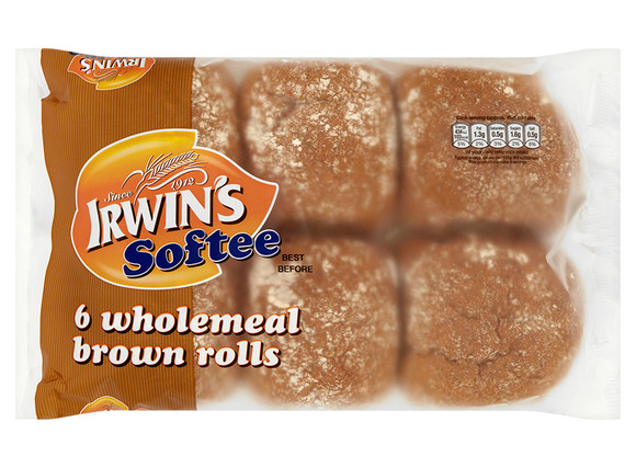 Irwin's Original - Softee Wholemeal Rolls 6pk