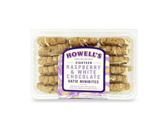 Howell's - Raspberry & White Chocolate Oatie Minibites 270g