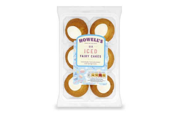 Howell's - Iced Fairy Cakes (6)