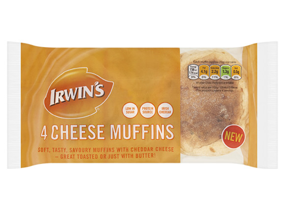Irwin's Original - Cheese muffins 4 pack