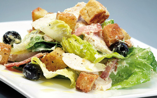Caesar Salad with Nutty Krust Croutons